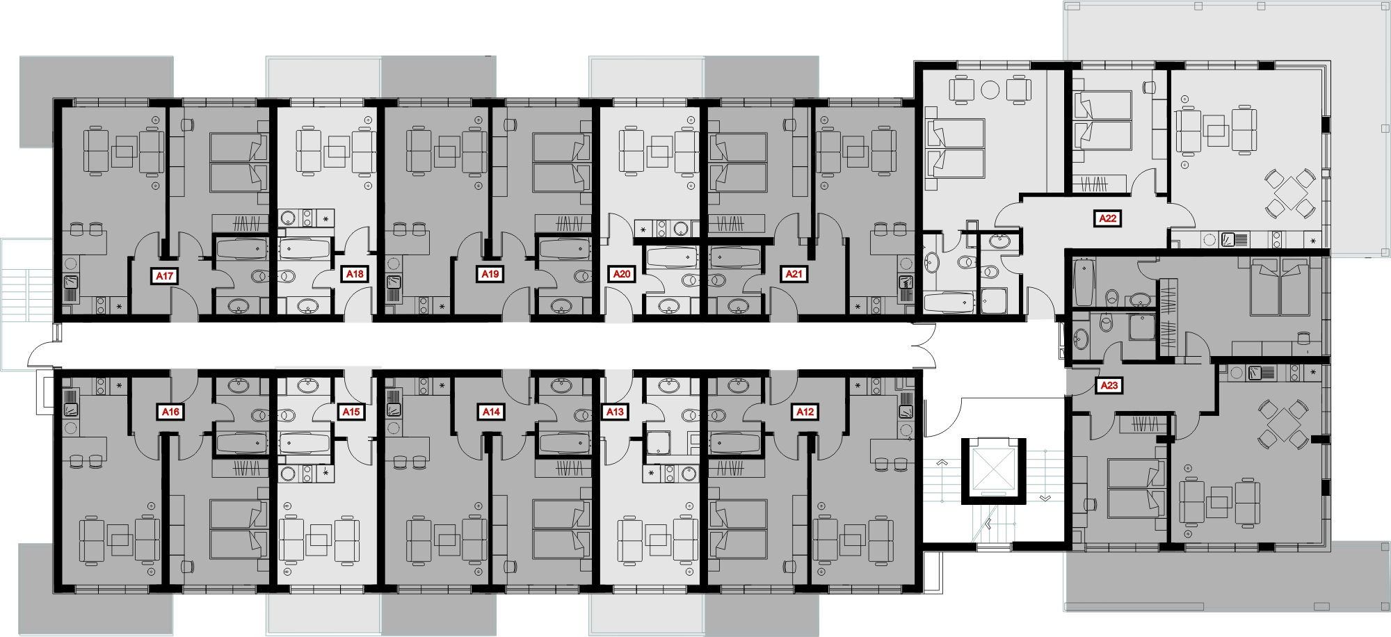 Boutique Hotel Small Hotel Room Floor Plans House Storey